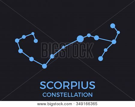 Scorpius Constellation. Stars In The Night Sky. Cluster Of Stars And Galaxies. Constellation Of Blue