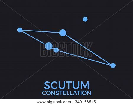 Scutum Constellation. Stars In The Night Sky. Cluster Of Stars And Galaxies. Constellation Of Blue O