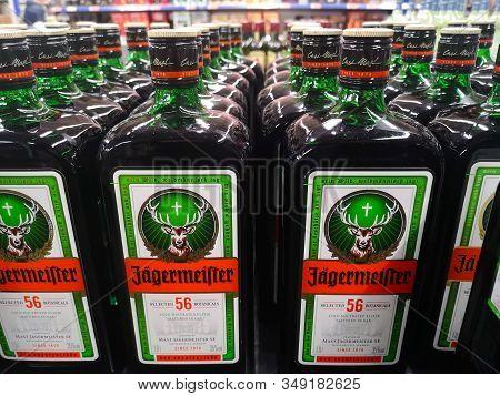 Sale Of German Liquor Jagermeister 1934 Infused On Aromatic Herbs In The Hypermarket Metro Ag Januar