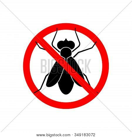 Fly Stop Sign Icon Isolated Vector Illustration