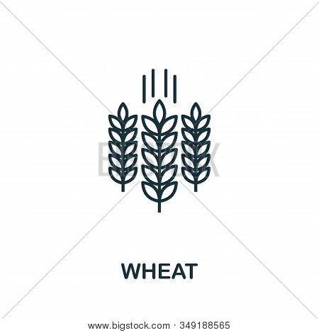 Wheat Icon. Thin Line Style Element From Farm Icons Collection. Outline Wheat Icon For Computer And