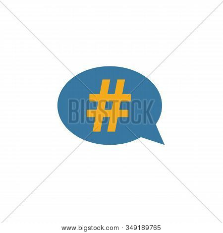Hashtag Icon. Simple Element From Smm Icons Collection. Creative Hashtag Icon Ui, Ux, Apps, Software