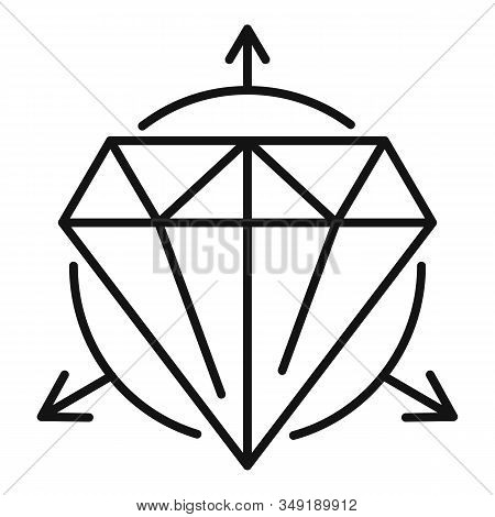 Alchemy Gemstone Icon. Outline Alchemy Gemstone Vector Icon For Web Design Isolated On White Backgro