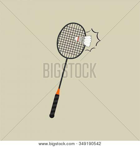 Badminton Racket And Shuttlecock Vector Illustration, Badminton Racket And Shuttlecock Template