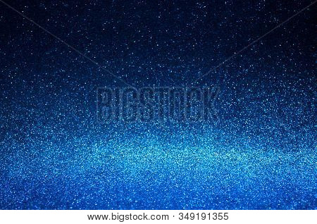 Navy Blue Abstract Light Background,dark Blue Bokeh Shining Lights,sparkling Glittering Christmas Li