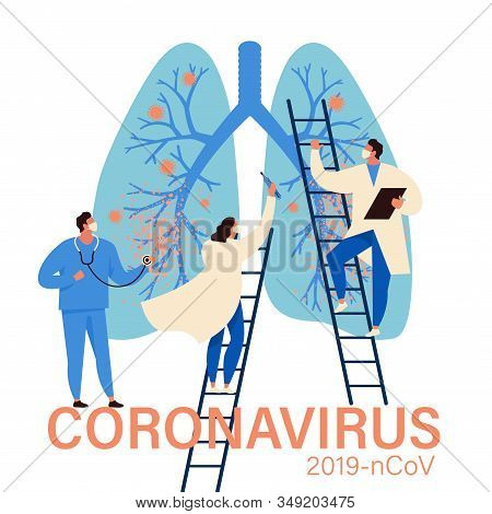 Virus Diagnosis And Patient Treatment Abstract Concept Vector Illustration. Coronavirus Test Kit, Co