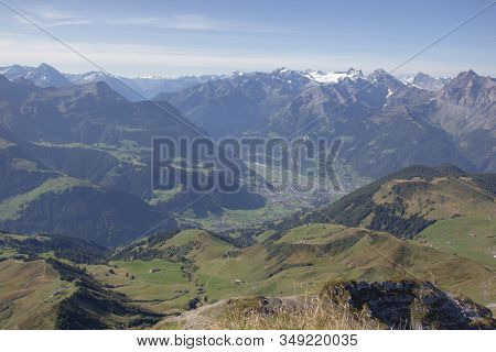 Reuss Valley In Central Switzerland On A Sunny Day
