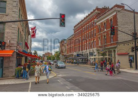 Kingston City, Ontario, Canada, Aug 2014 - A Busy Street At Kingston City, First Capital Of The Unit