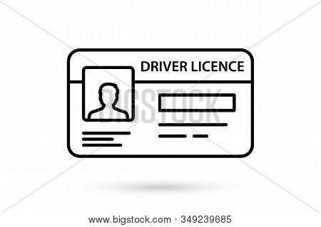 Id Card Icon. Identification Card Simple Linear Vector Icon. Driver License. Documents Driver's Lice