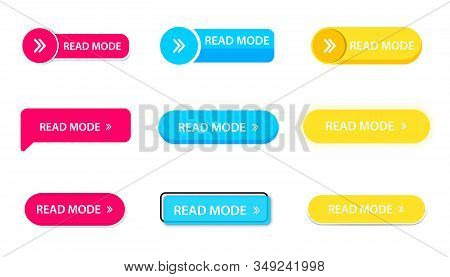 Set Of Vector Web Buttons. Read More Colorful Button Collection. Read More, Colorful Modern Buttons