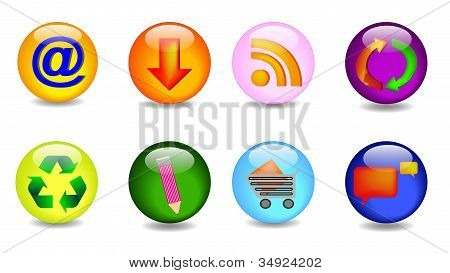 Set with the main icons in vector