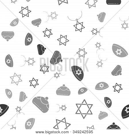 Set Star Of David Necklace On Chain, Star Of David, Jewish Kippah With Star Of David And Jewish Swee