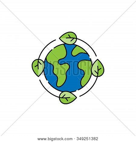 Ecology. World environment icon. Eco Friendly icon. Ecology vector. Ecology icon vector. Ecology logo. Ecology symbol. Ecology web icon. Flat Ecology icon isolated on white background. Eco Friendly icon sign for logo, web, app, UI. Ecology icon flat vecto