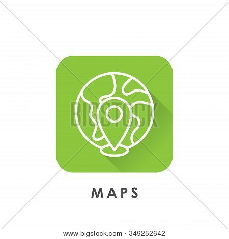Maps. Maps icon. Maps vector. Maps icon vector. Maps logo. Maps symbol. Maps web icon. Mapping vector. Maps icon isolated flat on white background. Maps icon simple sign for logo, web, app, UI. Trendy Maps icon flat vector illustration.