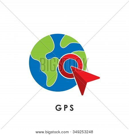 gps icon isolated on white background. gps icon trendy and modern gps symbol for logo, web, app, UI. gps icon simple sign. gps icon flat vector illustration for graphic and web design.