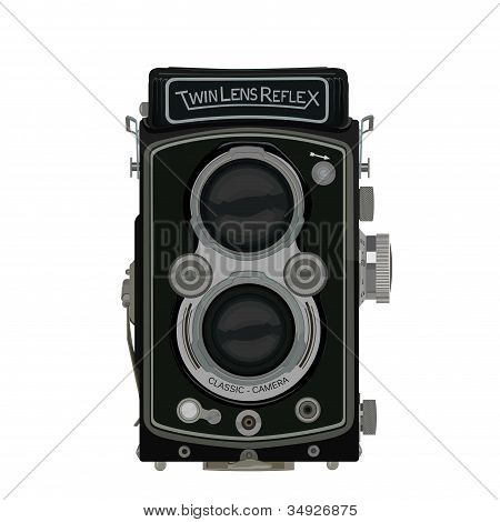 Old School Classic TLR Camera