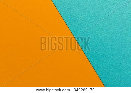 Trending Colors In 2020. Abstract Deep Orange And Blue Background. Abstract Geometric Background For