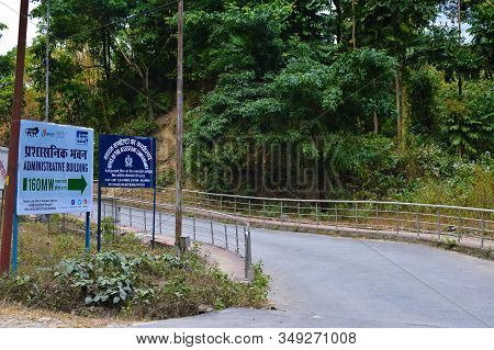 Darjeeling, India- December 25, 2019: Way To Teesta Hydro Electric Power Plant, Combined Cycle Power