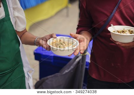 Concept Of Famine And Social Inequality : Feeding Food For Beggar Poverty Concept : The Society Of H