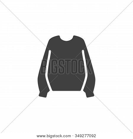 Female Sweater Vector Icon. Filled Flat Sign For Mobile Concept And Web Design. Women Pullover Sweat