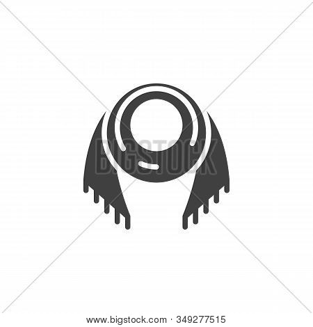 Woman Scarf Vector Icon. Filled Flat Sign For Mobile Concept And Web Design. Neck Scarf Glyph Icon.