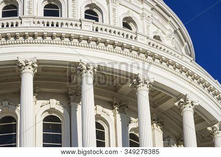 The State Capitol Building In Sacramento, California