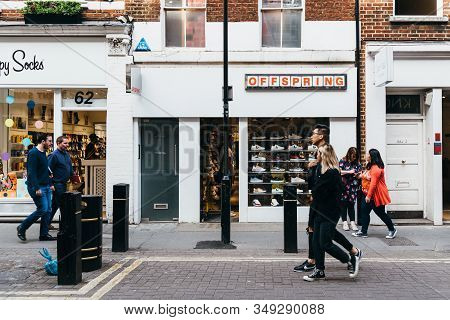 London, Uk - May 15, 2019: Offspring Fashion Storefront In Neal Street In Seven Dials, Covent Garden