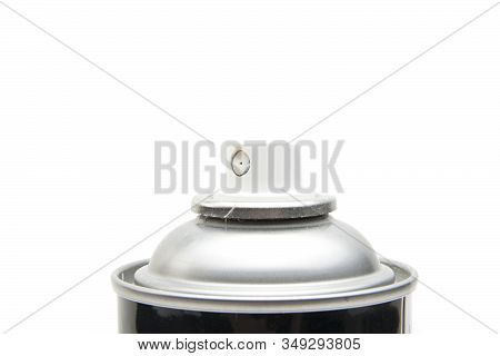 Studio Shot Of Spray Can Isolated On White Background