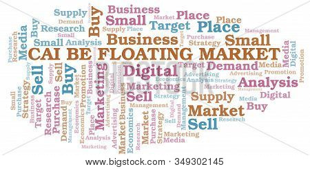 Cai Be Floating Market Word Cloud. Vector Made With Text Only.