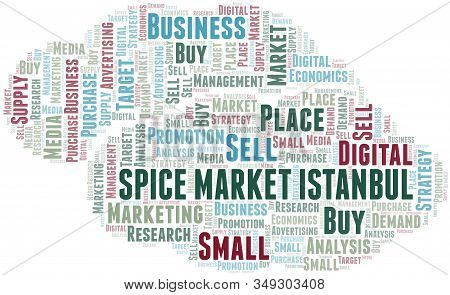 Market Istanbul Word Cloud. Vector Made With Text Only.