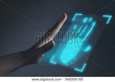 Identification. Authorization, Biometrics Or Cyber Security Concepts.
