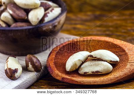 Brazilian Chestnut, Export Product From The Amazon. The Brazil Nut Is Called