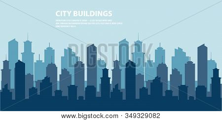 City Skyline Vector Illustration. Vector Cities Silhouette. Urban City Tower Skyline Illustration