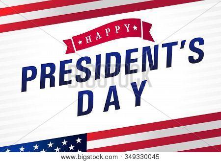 Happy Presidents Day Usa Light Stripes Poster. Vote In Usa 2020 Banner Design, Patriotic Background