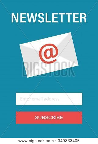 Subscribe To Newsletter Concept. Subscribe Button. Email Subscribe, Online Newsletter Vector Templat