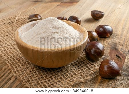Chestnut Flour With Edible Sweet Chestnuts, Christmas Food