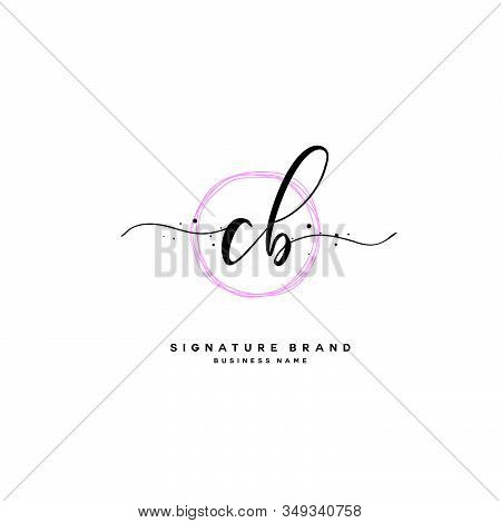 C B Cb Initial Letter Handwriting And  Signature Logo. A Concept Handwriting Initial Logo With Templ