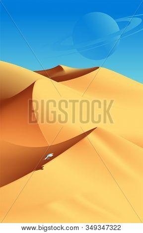 Desert Scenery Art In Vector