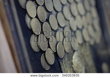 The Set Of Unique Collectible Coins, Glued Together Into A Picture