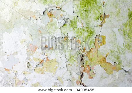 Shabby wall texture background poster