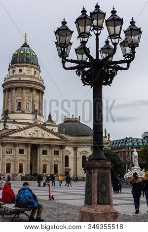 Berlin, Germany- October 9, 2019: The New Church , Neue Kirche, Deutscher Dom Is Located In Berlin O