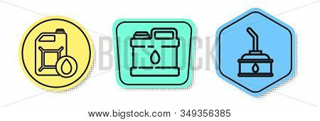Set Line Canister For Motor Machine Oil, Canister For Motor Machine Oil And Canister For Motor Machi