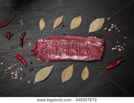 Raw Lamb Tenderloin Fillet, Mutton Sirloin Meat Or Sheep Fillet