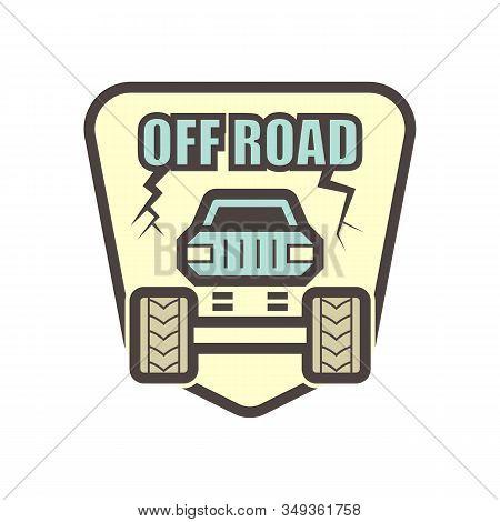 Off Road Truck Vector Icon Design Element.