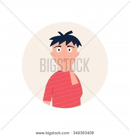Illustration Of A Man Looking Surprised Astonished