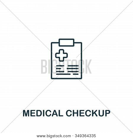 Medical Checkup Icon From Elderly Care Collection. Simple Line Element Medical Checkup Symbol For Te