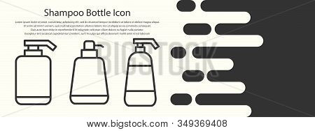 Shampoo Bottle Icon Vector Design Templates