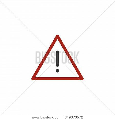 Hazard Warning Attention Sign. Caution Icon, Safety Instructions. Stock Vector Illustration Isolated