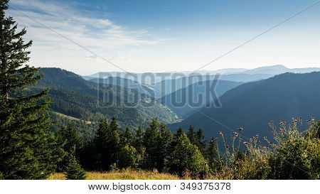 View From The Feldberg Through A Hazy Valley.