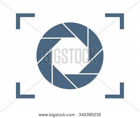 Focus Icon. Vector Illustration. Aperture Diaphragm Icon. Camera Icon Isolated. Camera Shutter Apert